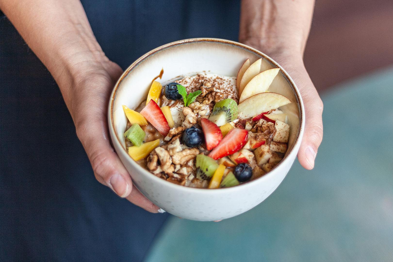 rýžová kaše s ovocem